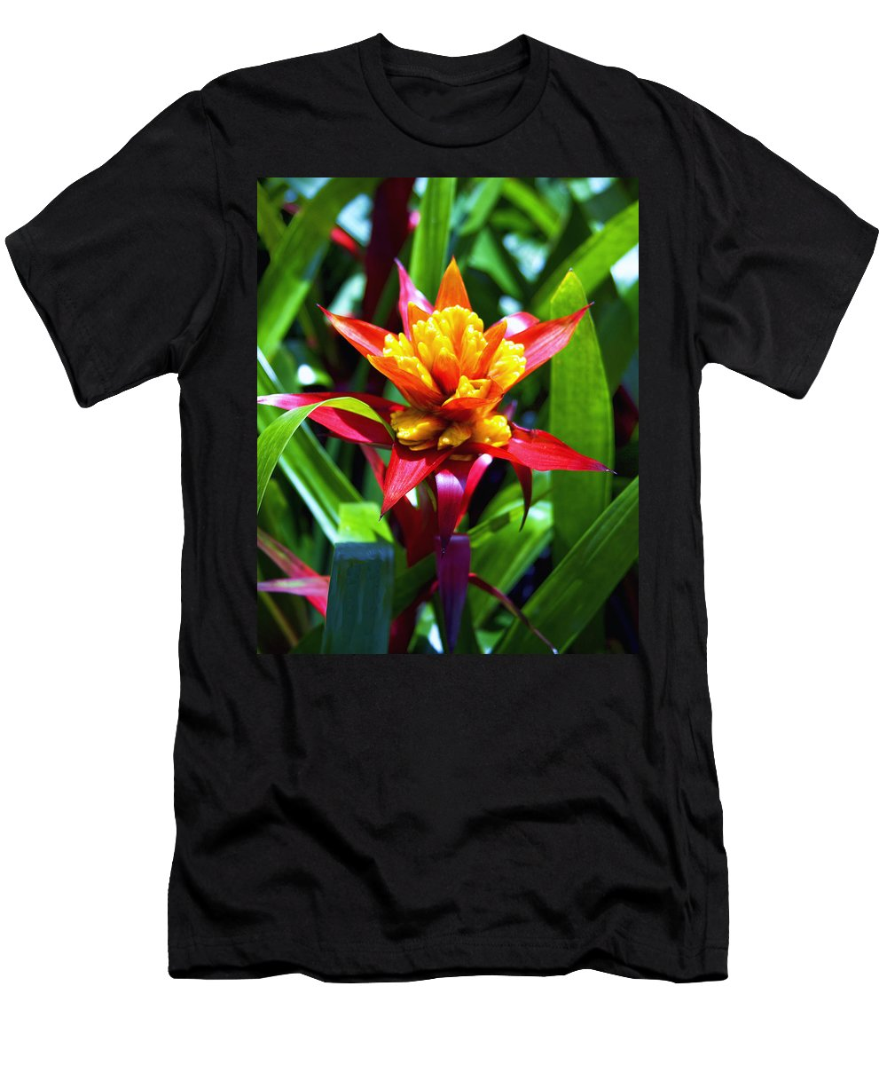 Bromelaid Men's T-Shirt (Athletic Fit) featuring the photograph Bromeliad by William Dey
