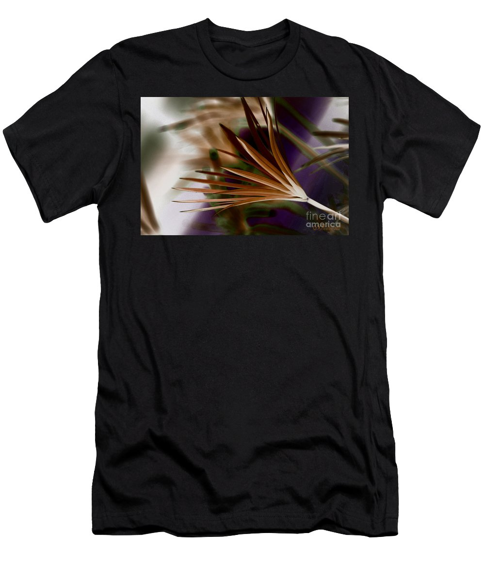 Ferns Men's T-Shirt (Athletic Fit) featuring the photograph Bronze Ferns by Donna Bentley