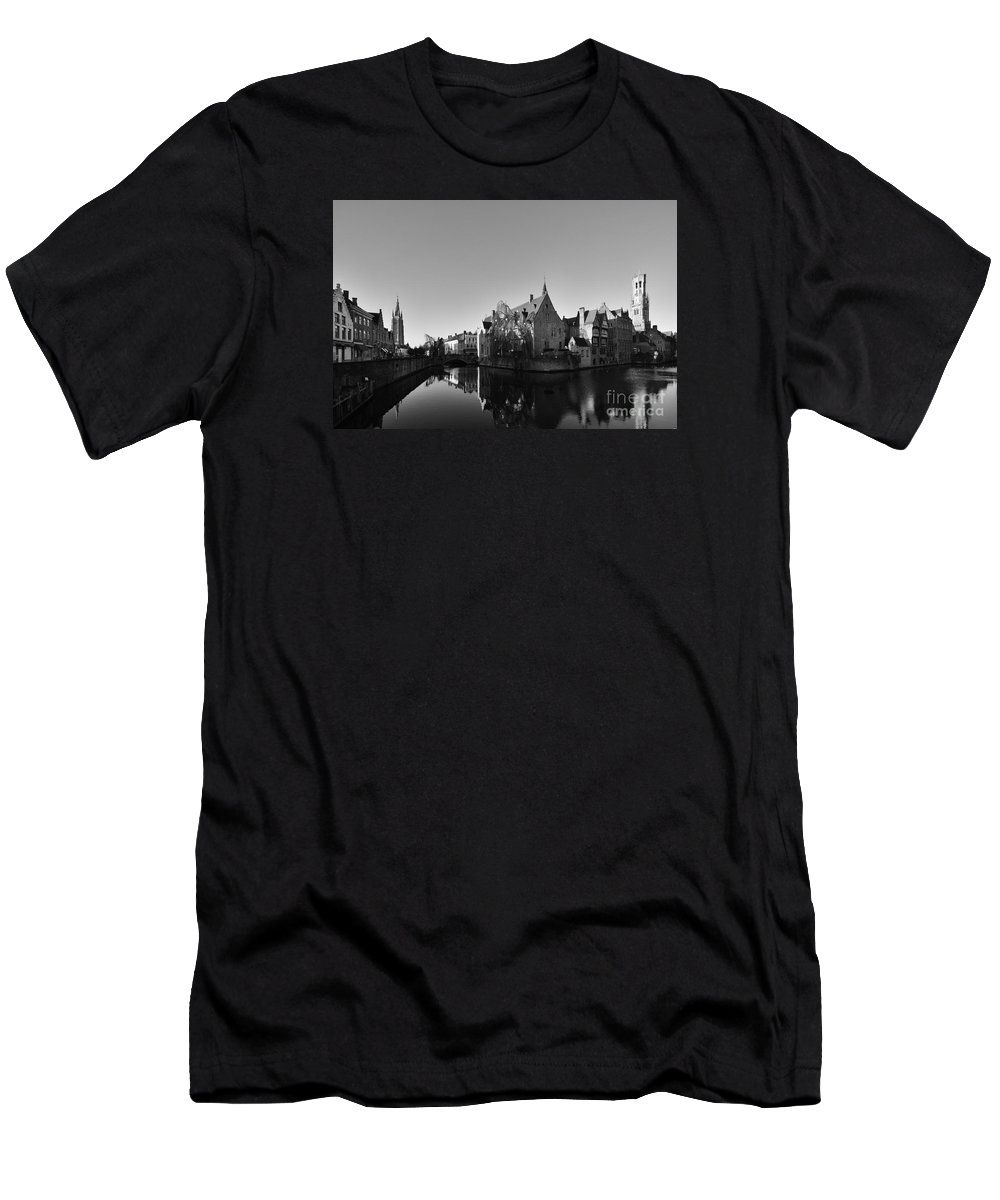 Bruge Men's T-Shirt (Athletic Fit) featuring the photograph Bruges by Smart Aviation