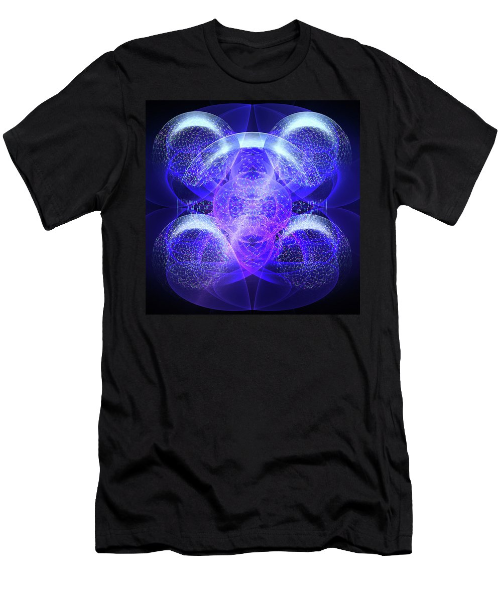 Digital Men's T-Shirt (Athletic Fit) featuring the digital art Bubble Beauty by Andy Young