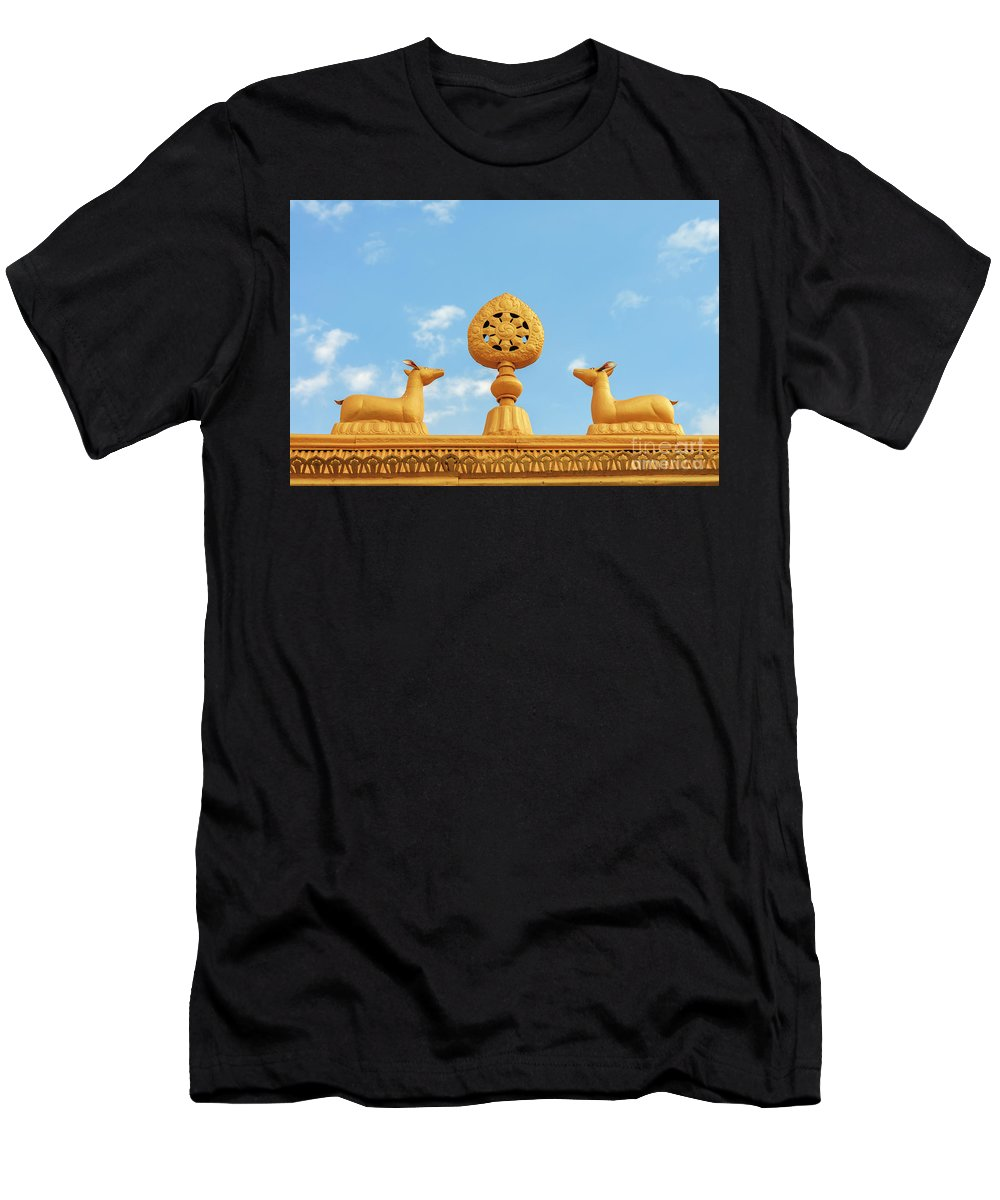 Antique Men's T-Shirt (Athletic Fit) featuring the photograph Buddha Symbol by Aoshi VN