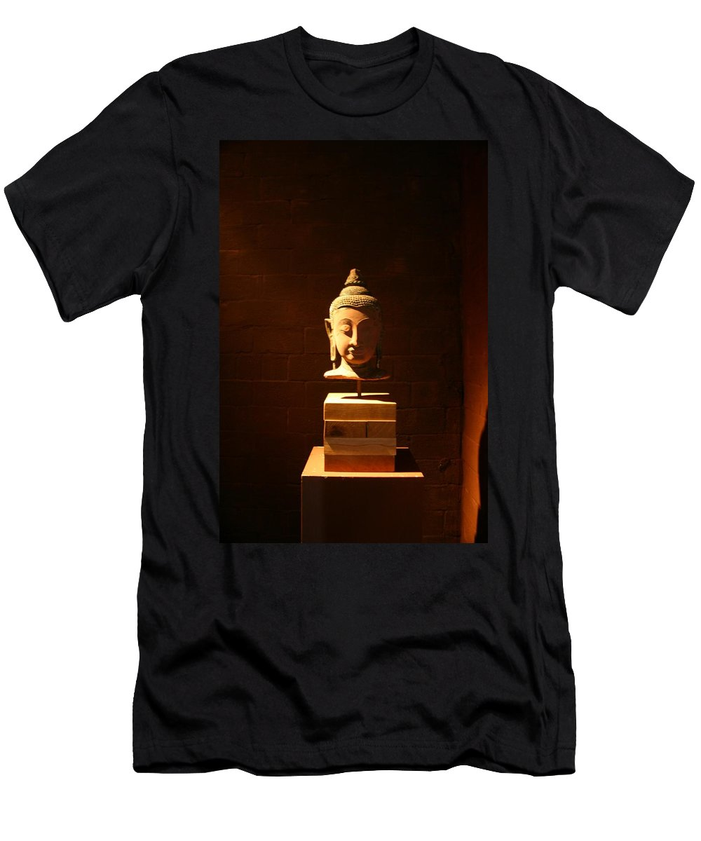 Buddhism Men's T-Shirt (Athletic Fit) featuring the photograph Buddhism In Belgium by Minaz Jantz