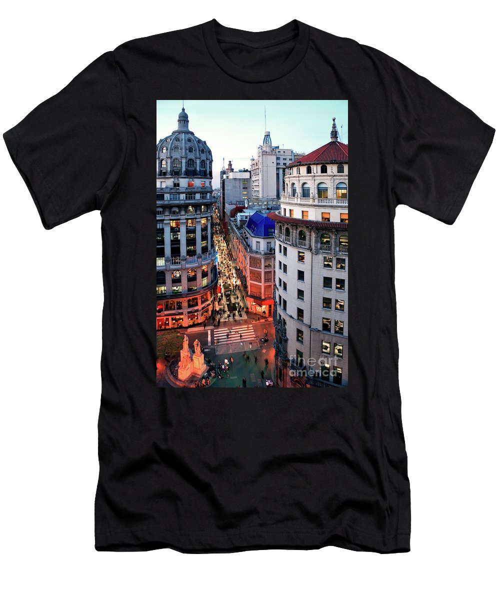 Florida Men's T-Shirt (Athletic Fit) featuring the photograph Buenos Aires Street I by Bernardo Galmarini