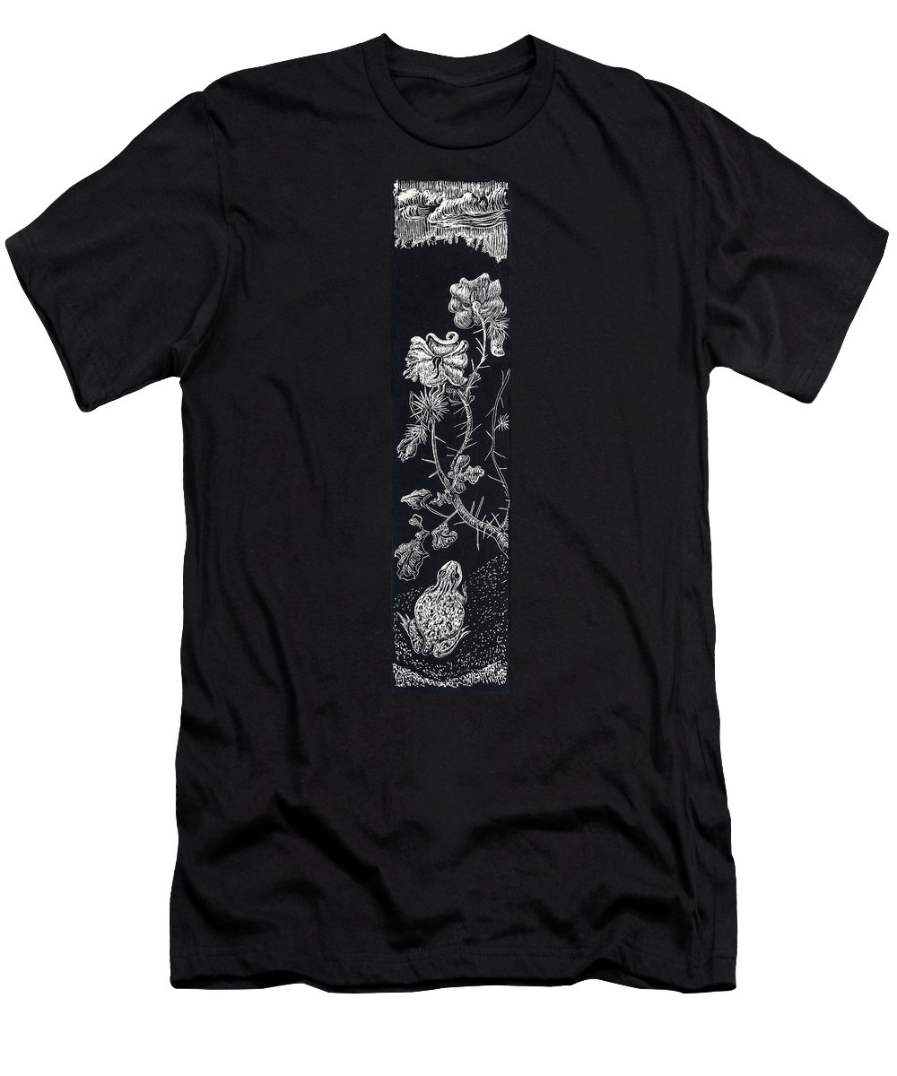 Floral Men's T-Shirt (Athletic Fit) featuring the drawing Buffalo Burr And Toad by Dawn Senior-Trask