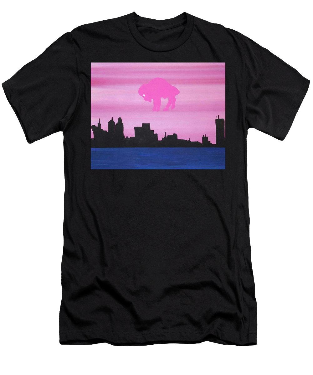 Men's T-Shirt (Athletic Fit) featuring the painting Buffalo by Dan Schepperly
