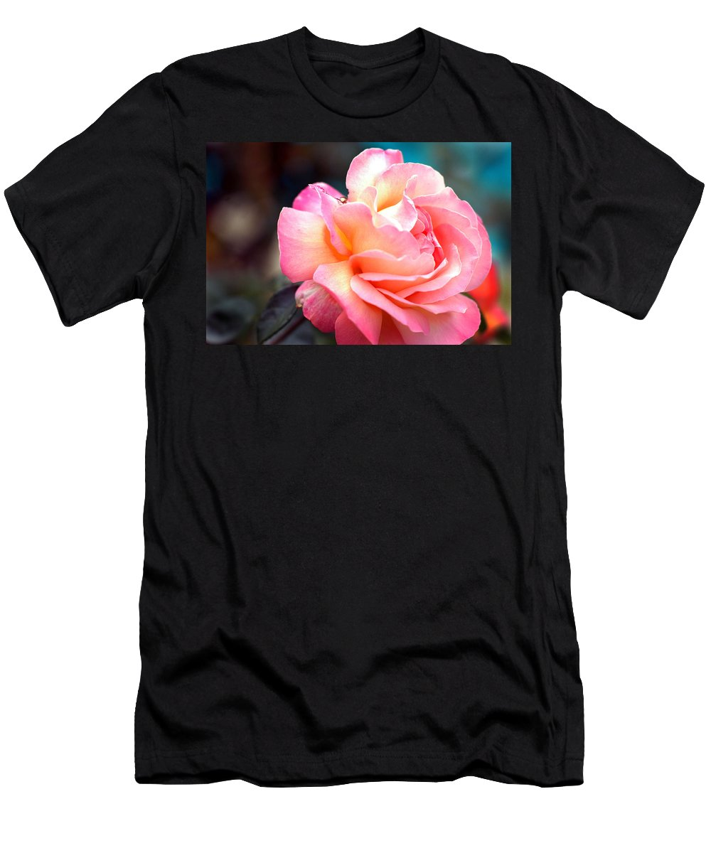 Flowers Men's T-Shirt (Athletic Fit) featuring the photograph Buffum Rose by Norman Andrus