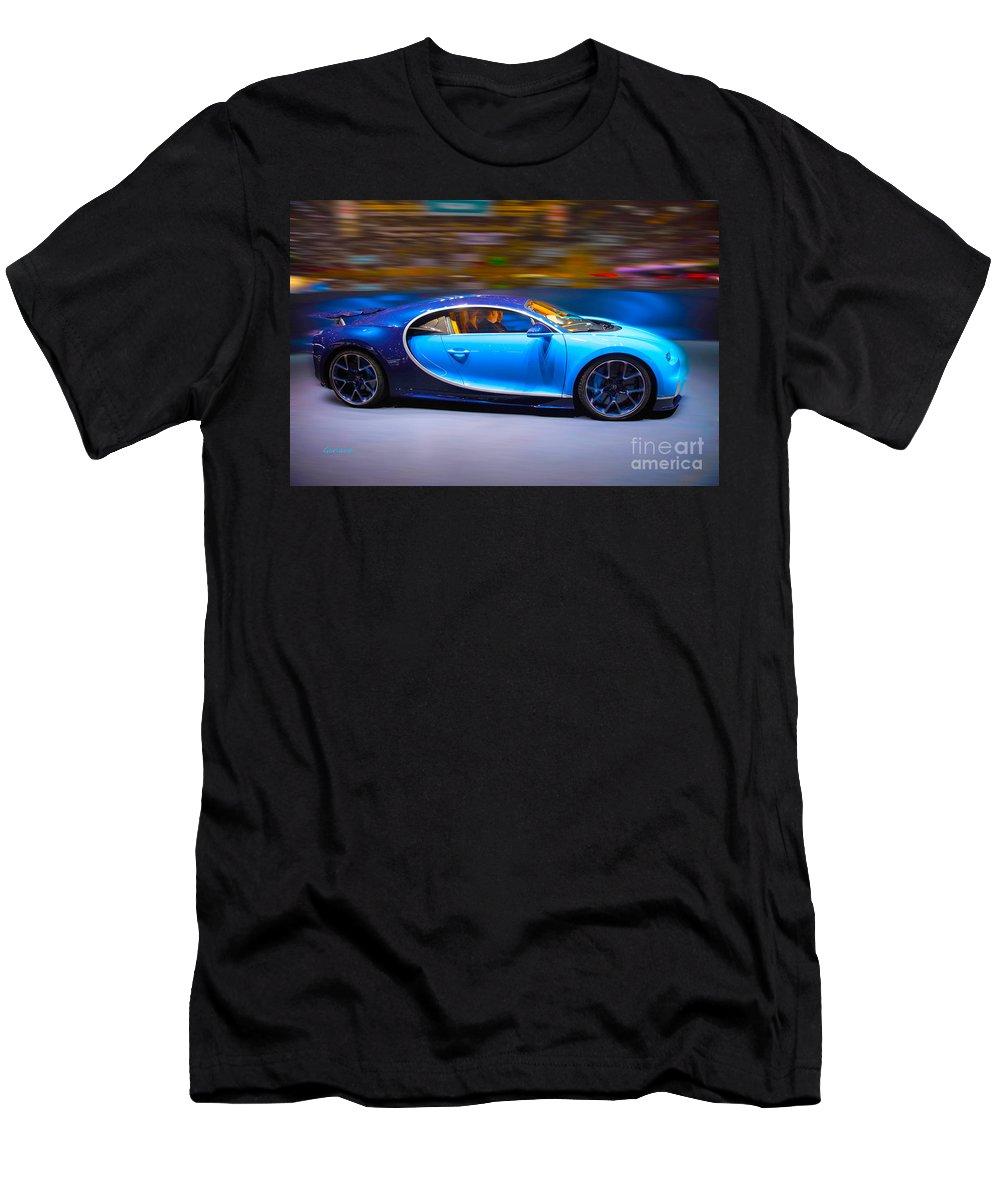Car Men's T-Shirt (Athletic Fit) featuring the digital art Bugatti Chiron 2 by Garland Johnson