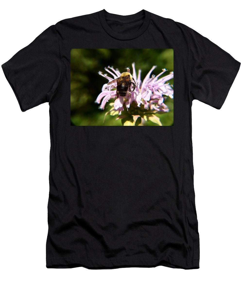 Digital Art Men's T-Shirt (Athletic Fit) featuring the photograph Bumble Bee by Belinda Cox