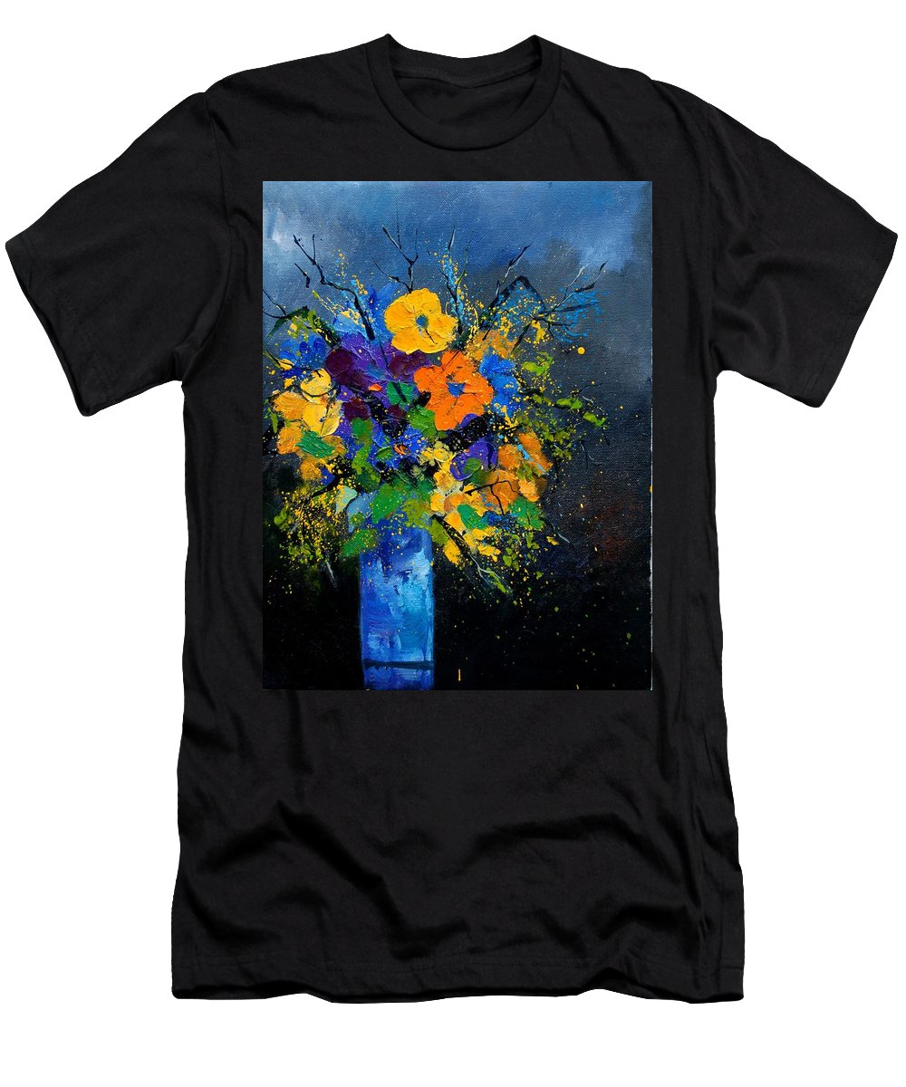 Poppies Men's T-Shirt (Athletic Fit) featuring the painting Bunch 1007 by Pol Ledent