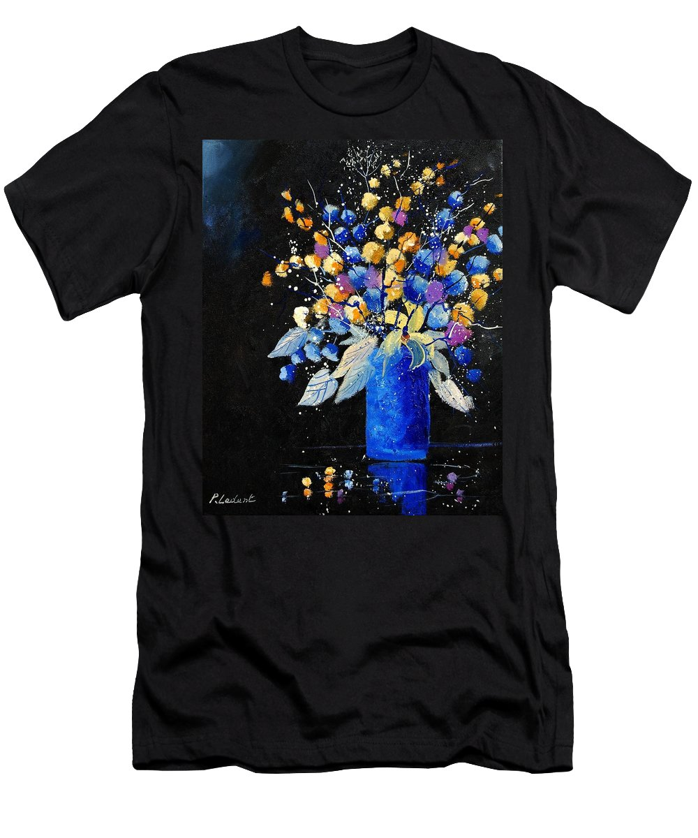 Flowers Men's T-Shirt (Athletic Fit) featuring the painting Bunch 451008 by Pol Ledent