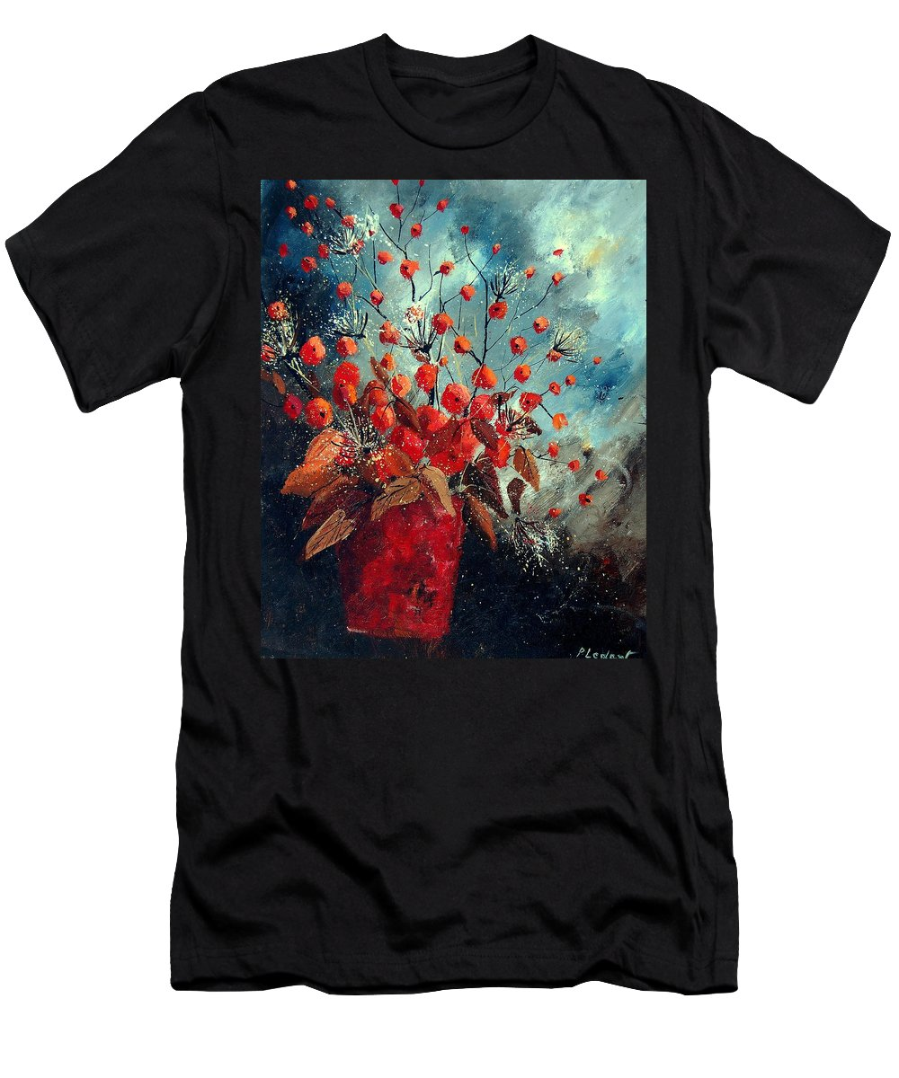 Flowers Men's T-Shirt (Athletic Fit) featuring the painting Bunch 562139854 by Pol Ledent