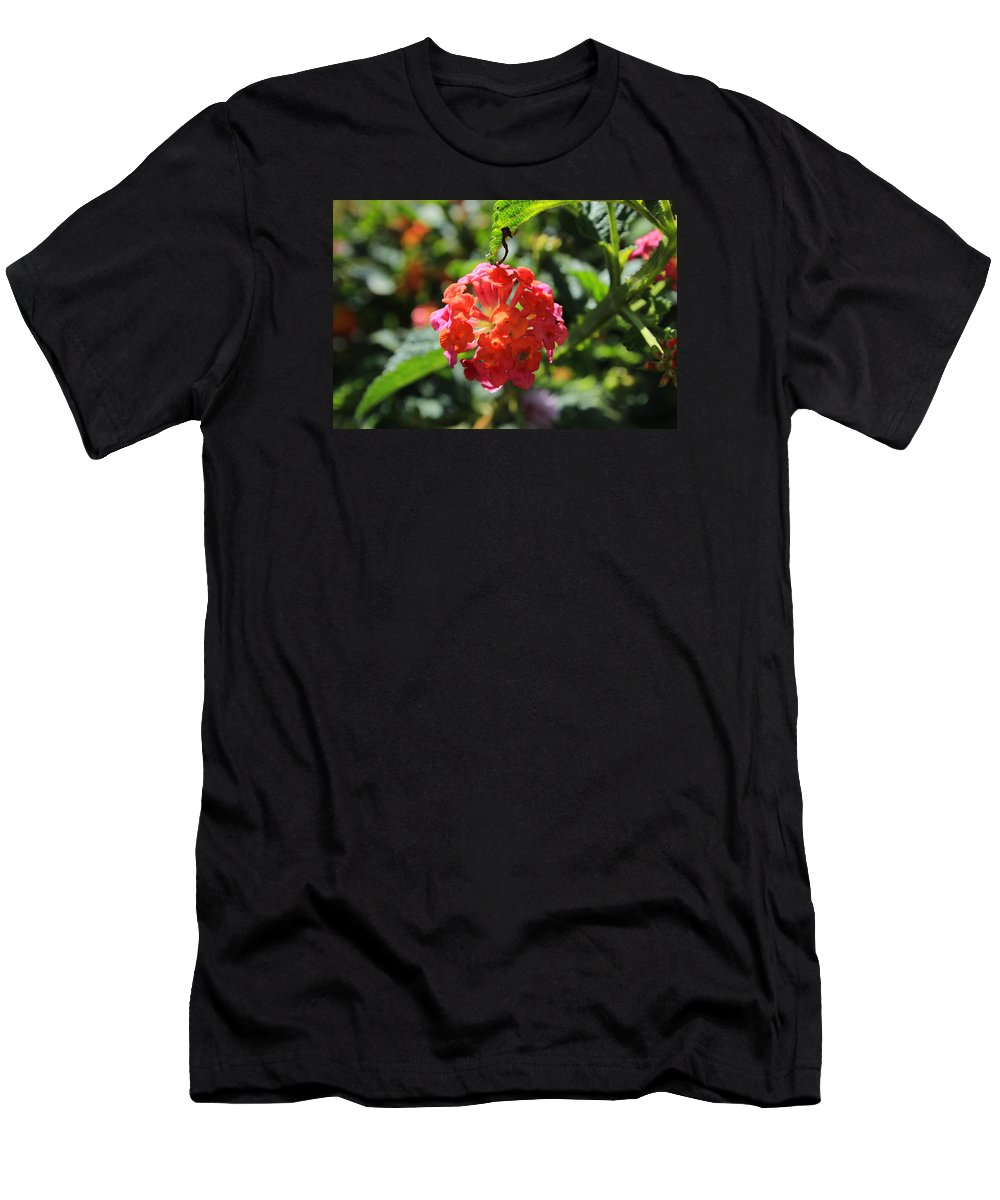 Flower Men's T-Shirt (Athletic Fit) featuring the photograph Bunch Of Tiny Flowers by Robert Hamm