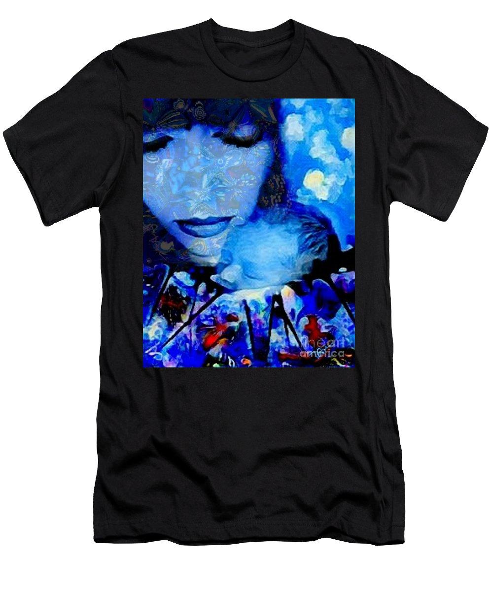 Newborn Men's T-Shirt (Athletic Fit) featuring the digital art Bundle Of Boy by Diane Holman