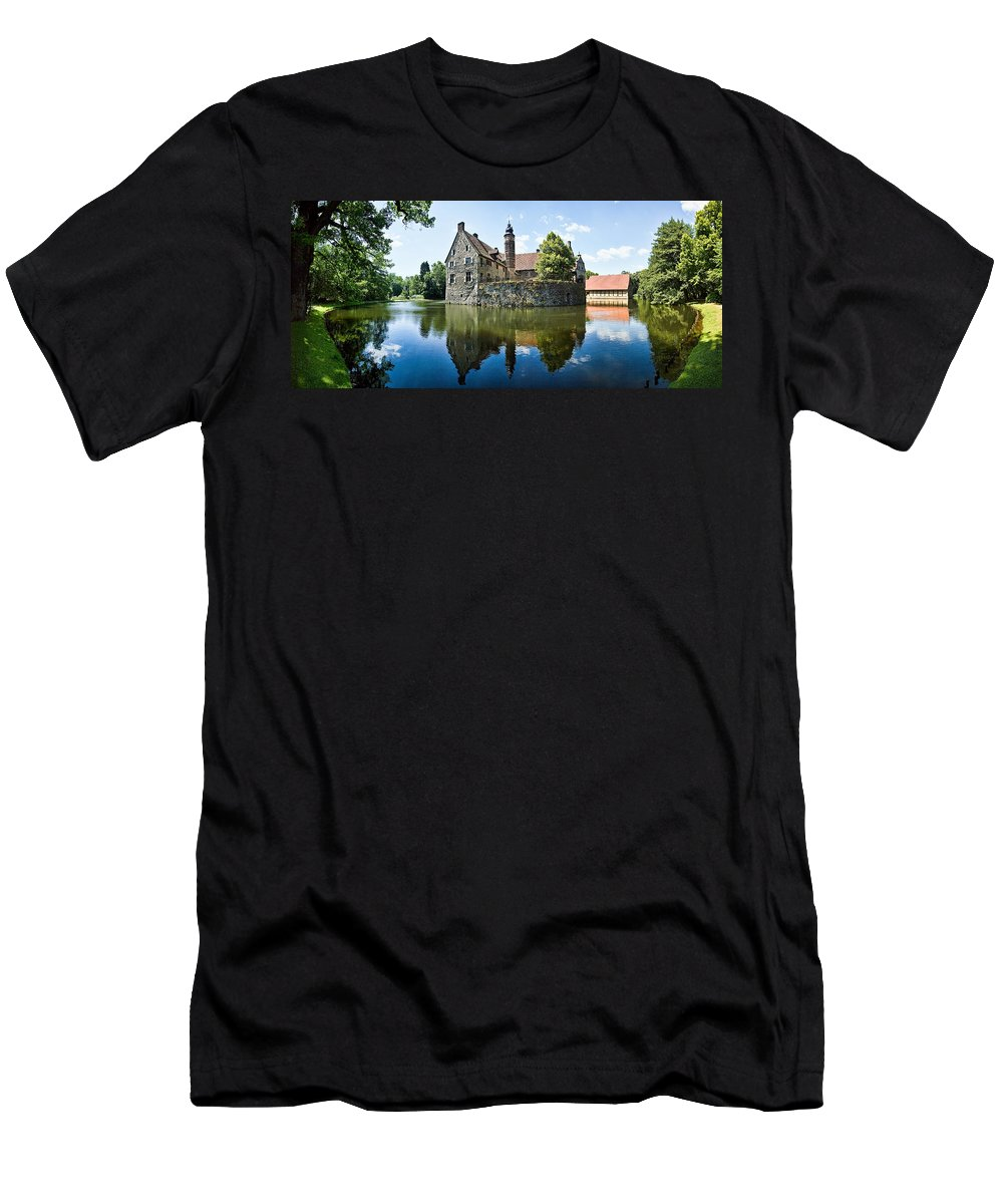 Burg Vischering Men's T-Shirt (Athletic Fit) featuring the photograph Burg Vischering by Dave Bowman