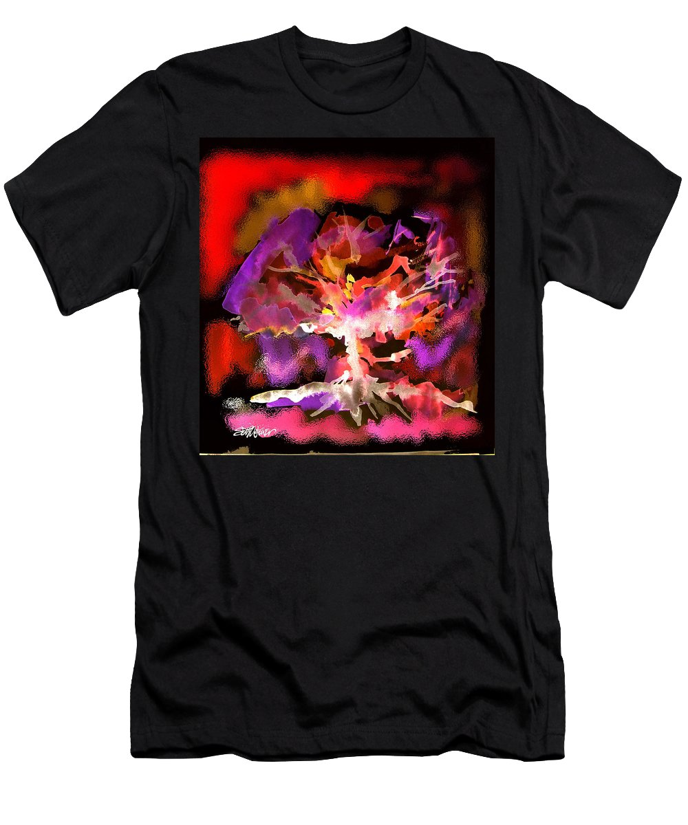 Bible Men's T-Shirt (Athletic Fit) featuring the digital art Burning Bush by Seth Weaver