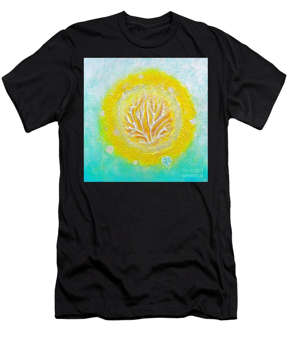 Abstract Men's T-Shirt (Athletic Fit) featuring the painting Burning Bush by Wonju Hulse