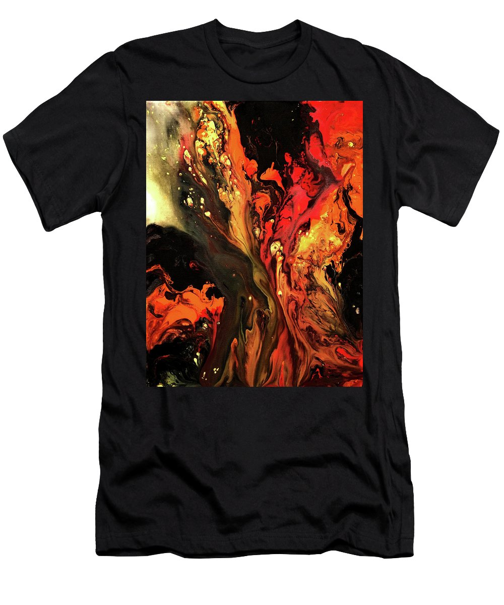 Men's T-Shirt (Athletic Fit) featuring the painting Burning Desire by Destiny Womack