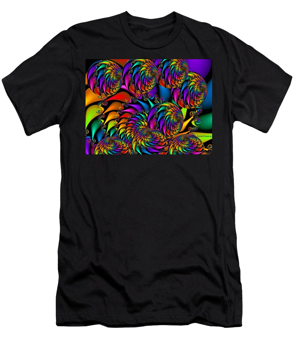 Colorful Men's T-Shirt (Athletic Fit) featuring the digital art Burning Embers by Robert Orinski