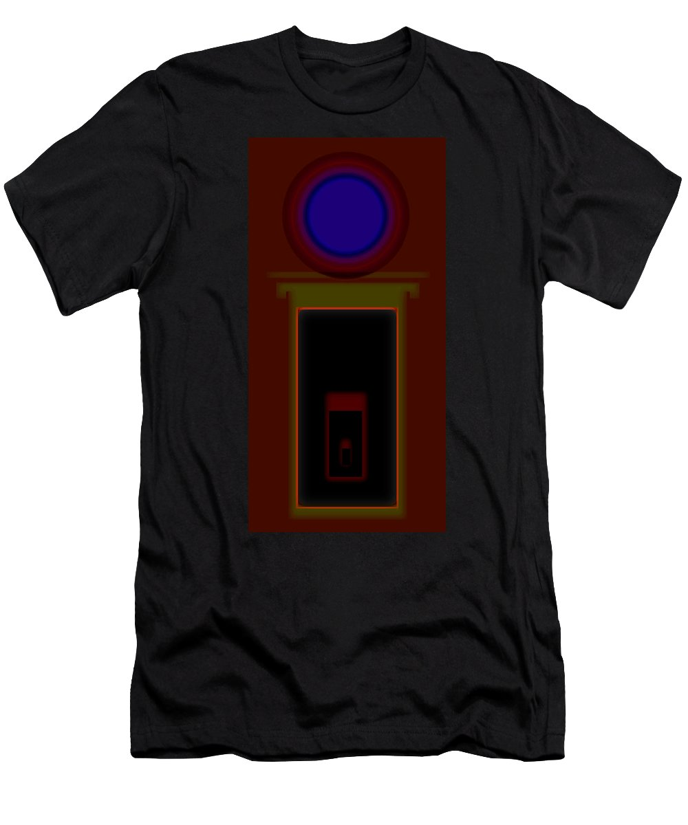 Palladian Men's T-Shirt (Athletic Fit) featuring the painting Burnt Sienna by Charles Stuart