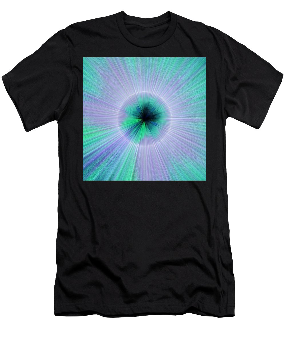 Blue Men's T-Shirt (Athletic Fit) featuring the digital art Burst by Shannon Stancliff