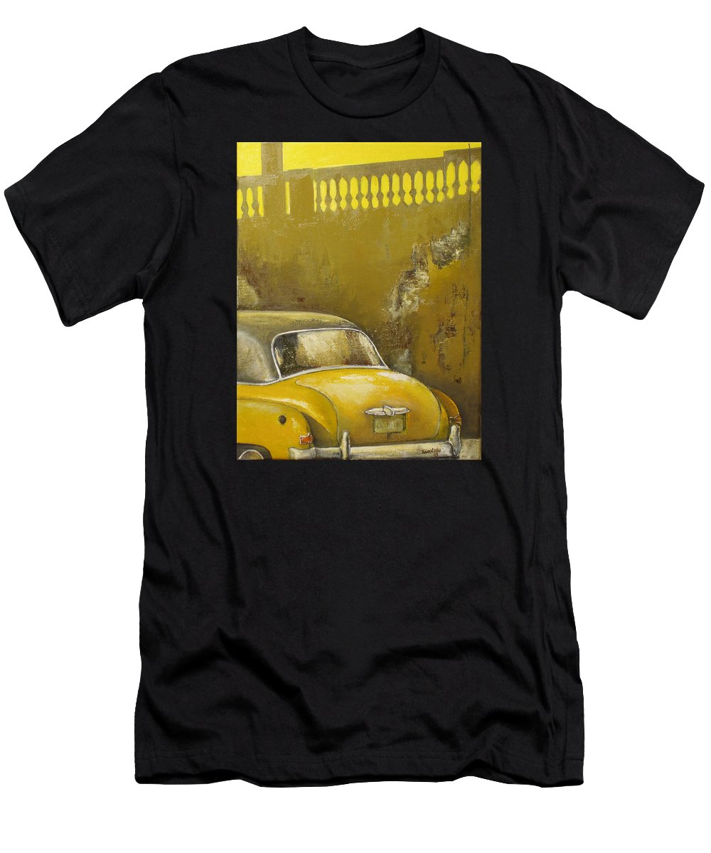Havana Men's T-Shirt (Athletic Fit) featuring the painting Buscando La Sombra by Tomas Castano