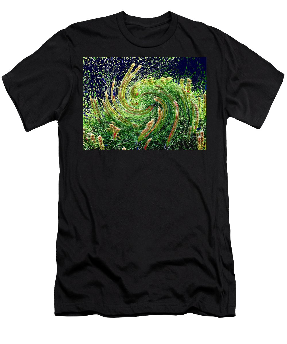 Pine Men's T-Shirt (Athletic Fit) featuring the photograph Bush In Transition by Ian MacDonald
