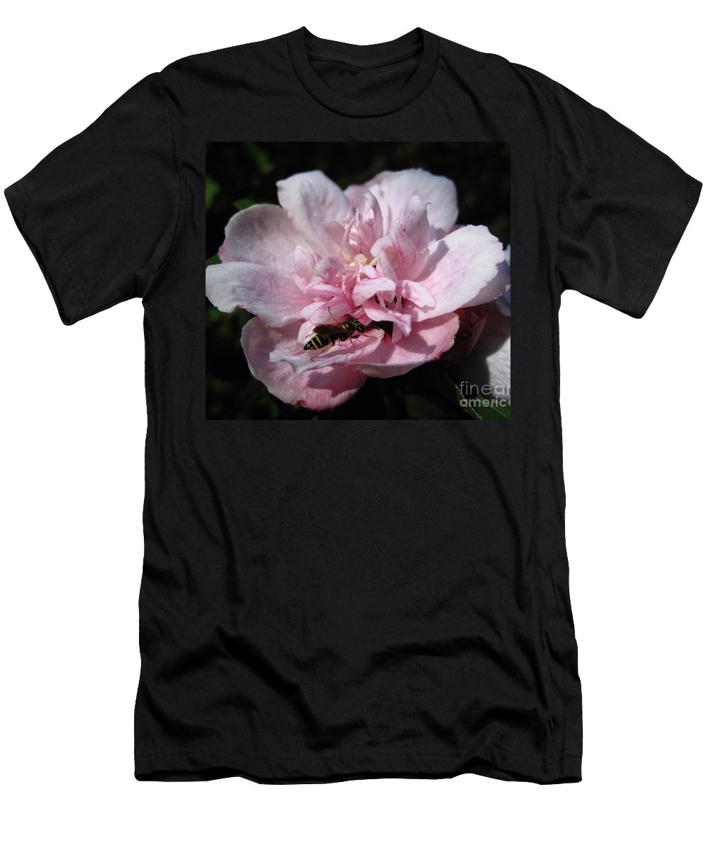 Bee Men's T-Shirt (Athletic Fit) featuring the photograph Busy Bee by Cecilia Swatton