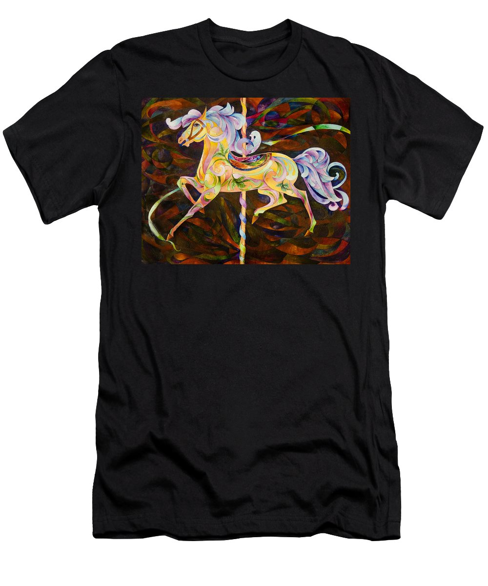 Horse Men's T-Shirt (Athletic Fit) featuring the painting Butter Cup by Sherry Shipley