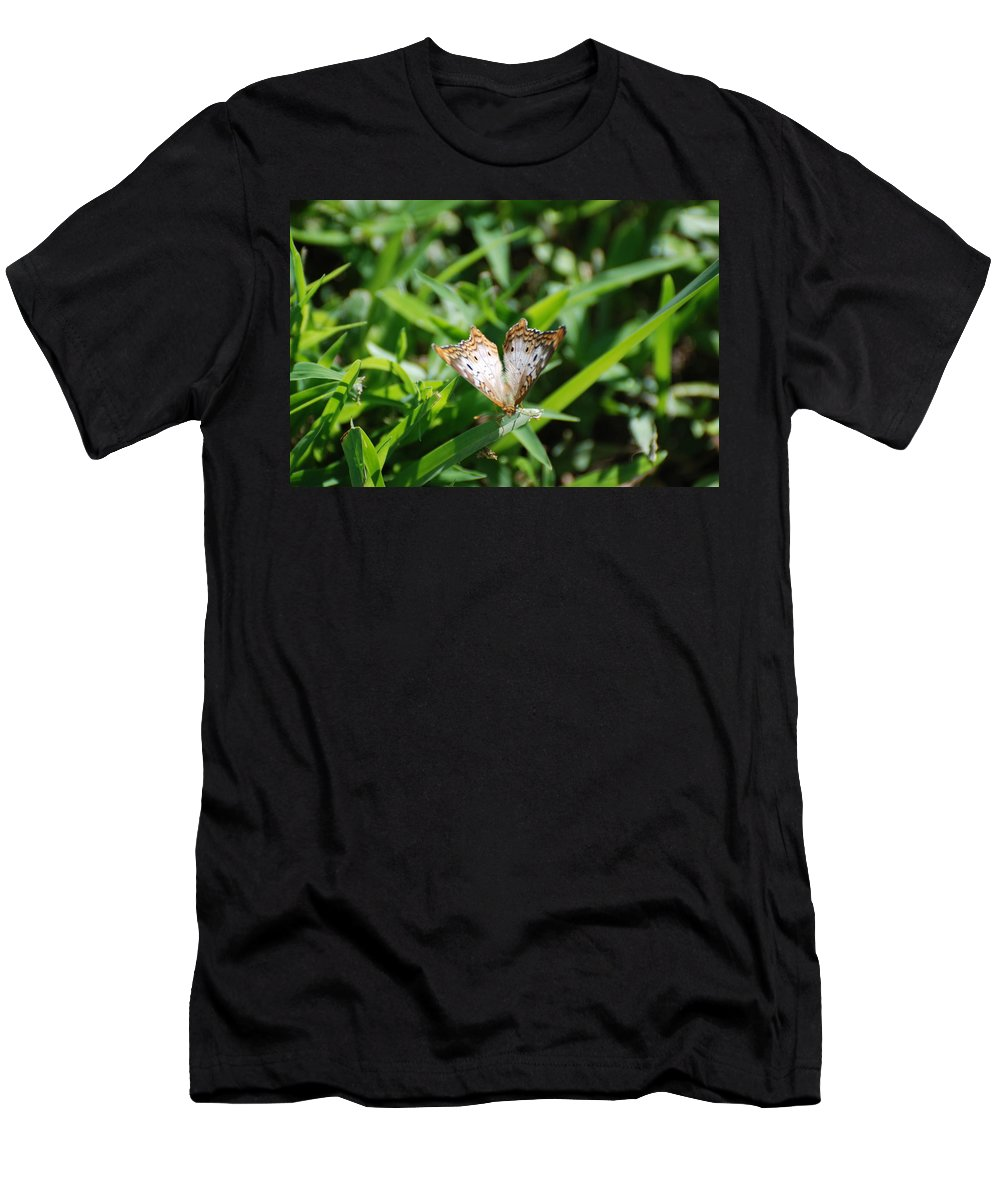 Butterfly Men's T-Shirt (Athletic Fit) featuring the photograph Butter Fly by Rob Hans