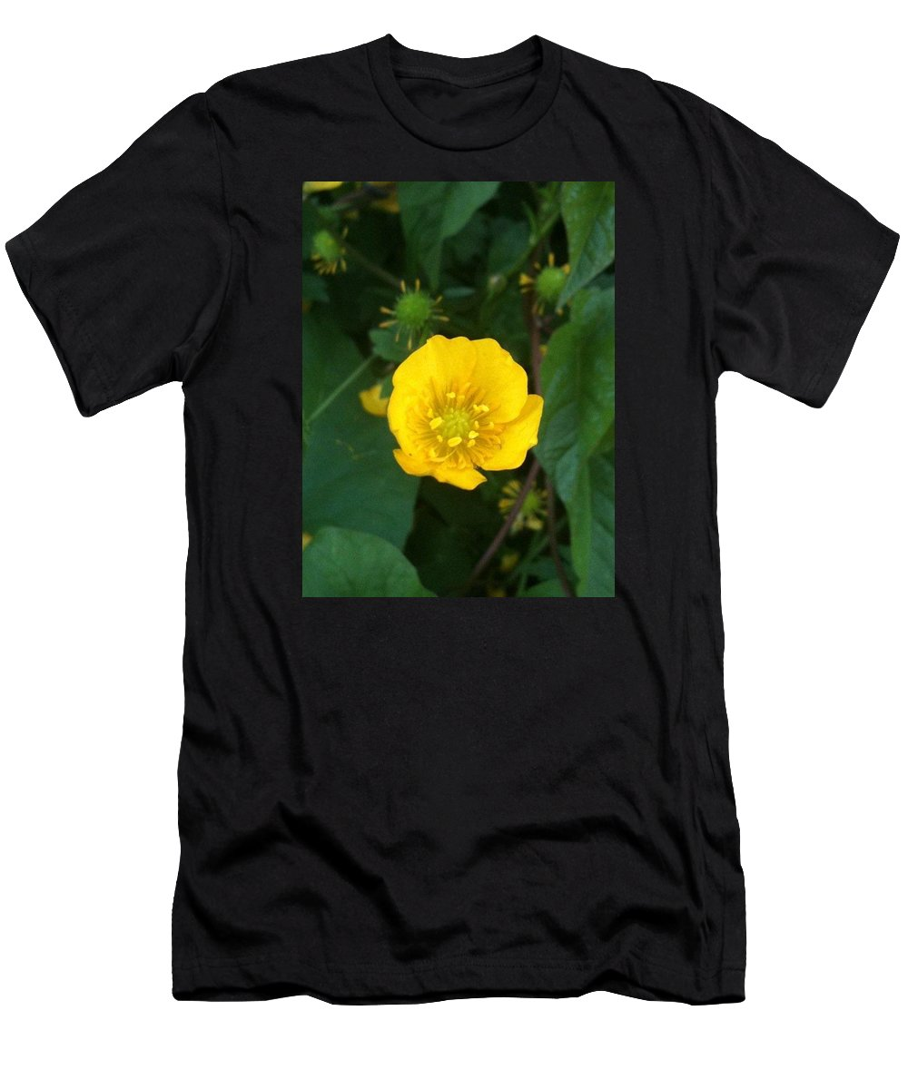 Buttercup Men's T-Shirt (Athletic Fit) featuring the photograph Buttercup by Helen Orth