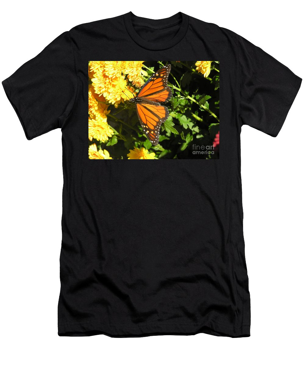 Butterfly Men's T-Shirt (Athletic Fit) featuring the photograph Butterfly by Diane Greco-Lesser