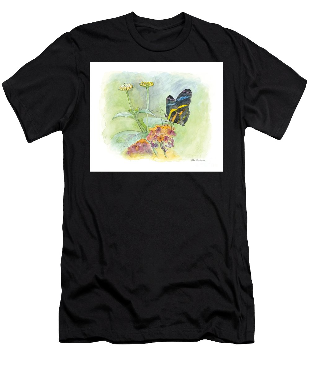 Butterfly Men's T-Shirt (Athletic Fit) featuring the painting Butterfly by Joan Sharron