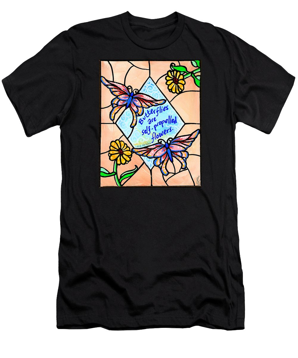 Butterfly Men's T-Shirt (Athletic Fit) featuring the painting Butterflywhispers1 by Jim Harris