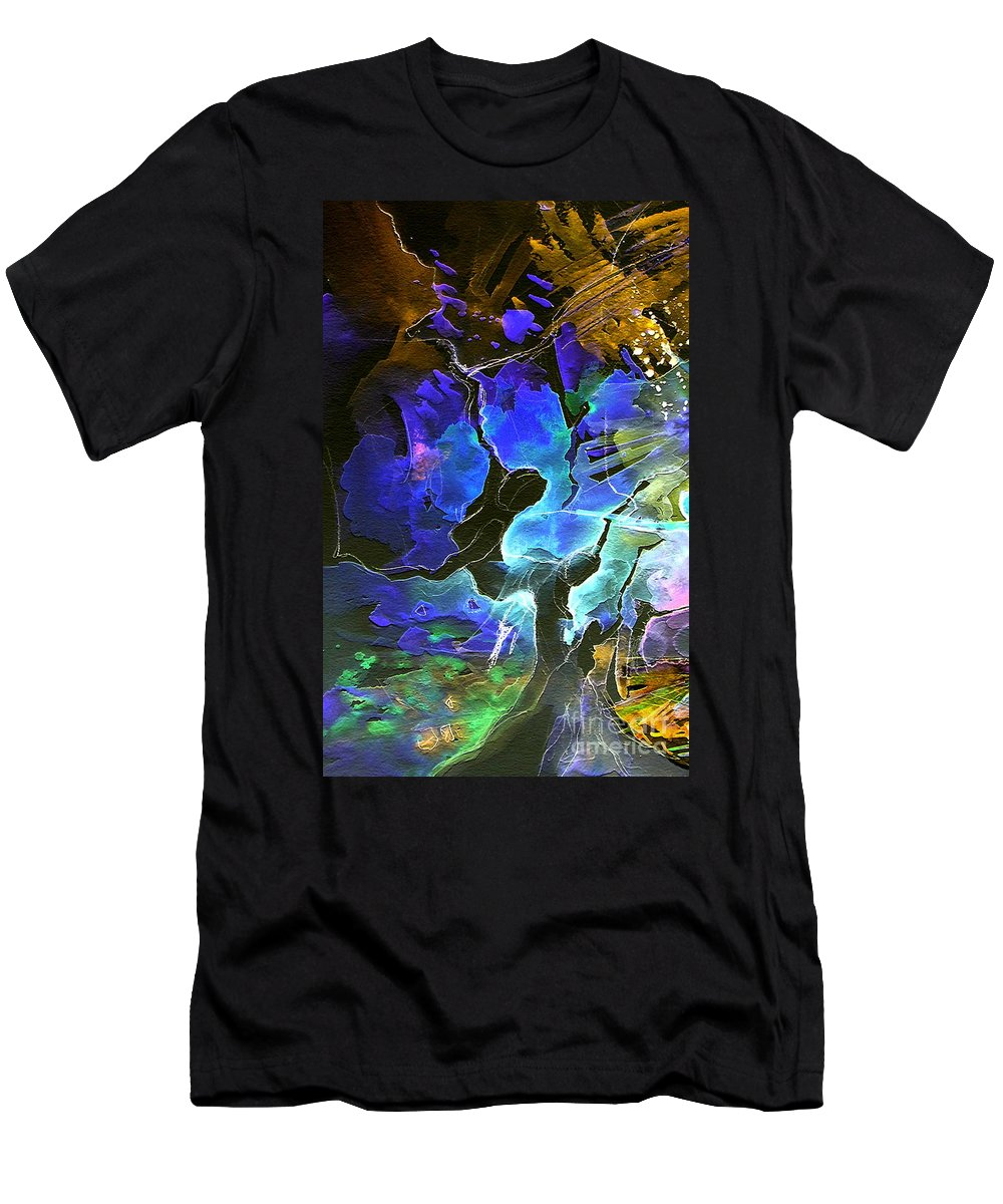 Miki Men's T-Shirt (Athletic Fit) featuring the painting Bye by Miki De Goodaboom