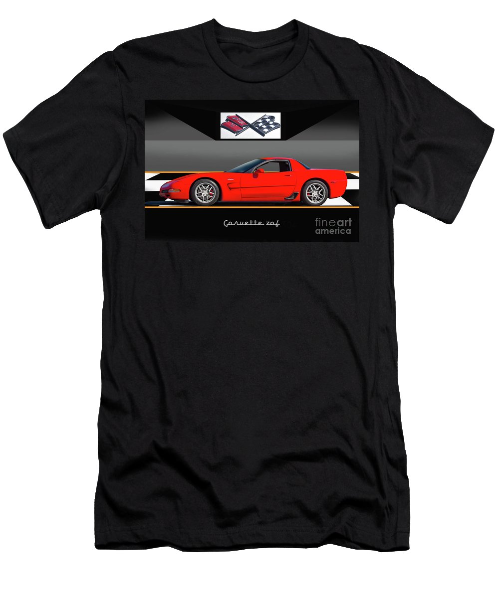 Auto Men's T-Shirt (Athletic Fit) featuring the photograph C5 Corvette Zo6 'profile' I by Dave Koontz