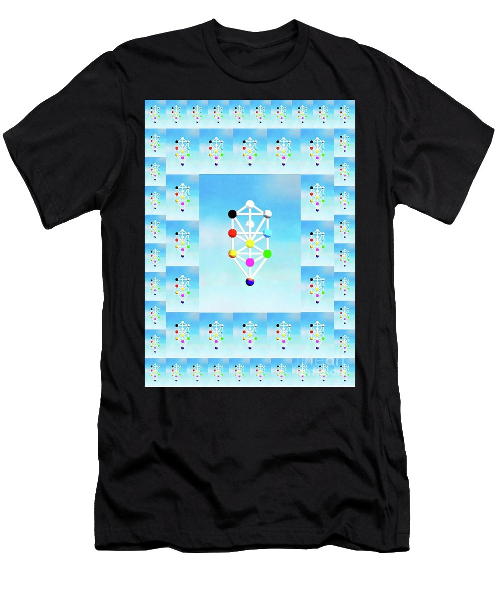 Cabbala Men's T-Shirt (Athletic Fit) featuring the mixed media Cabbala by Mary Bassett