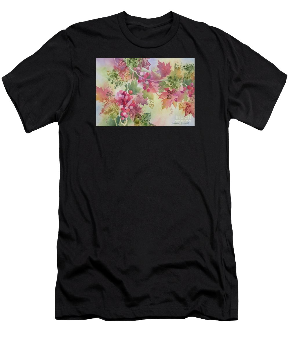 Grapes Men's T-Shirt (Athletic Fit) featuring the painting Cabernet by Deborah Ronglien