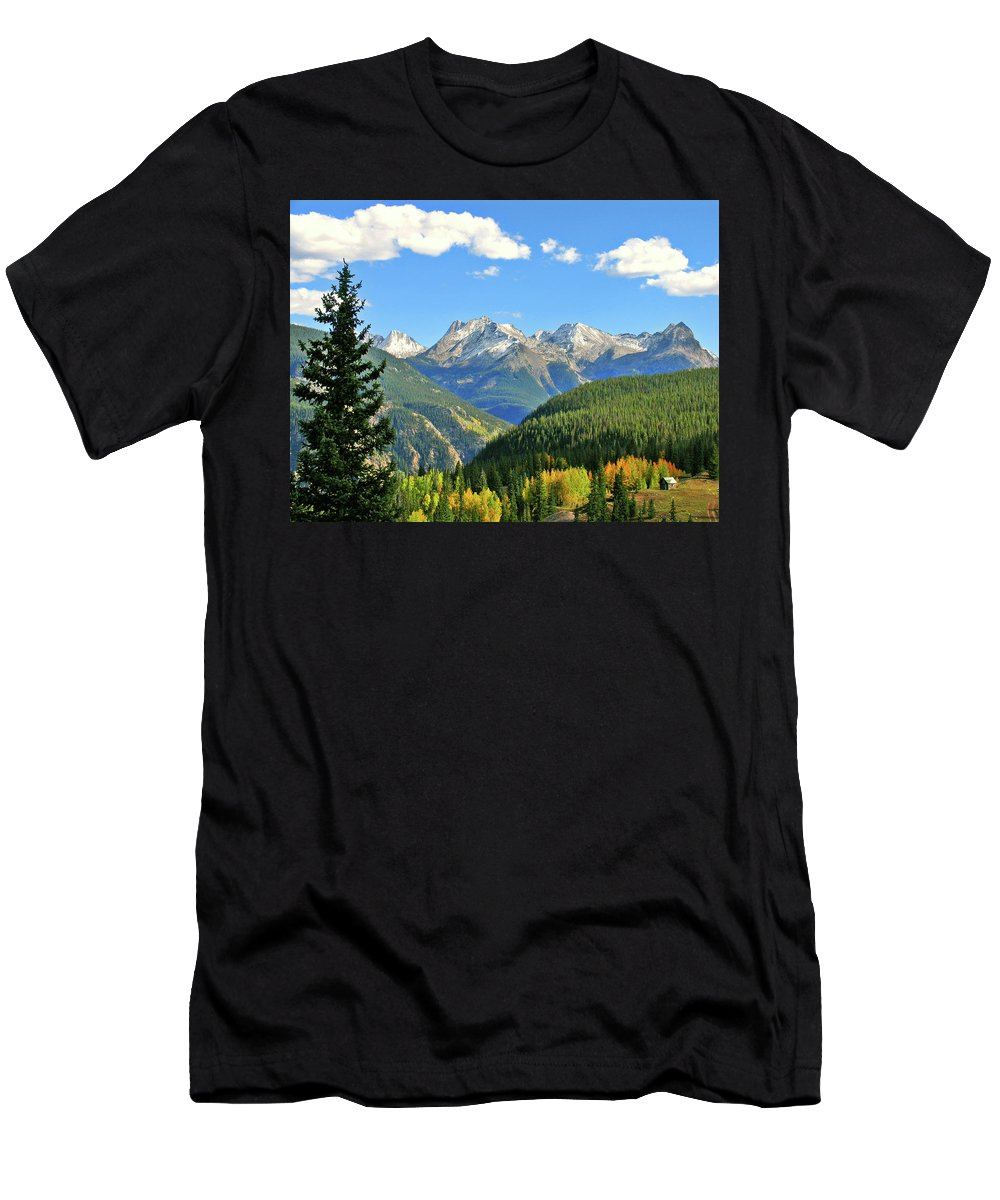 Cabin Men's T-Shirt (Athletic Fit) featuring the photograph Cabin In The San Juans by Scott Mahon