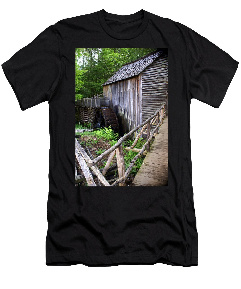 Cable Mill Men's T-Shirt (Athletic Fit) featuring the photograph Cable Mill 3 by Marty Koch