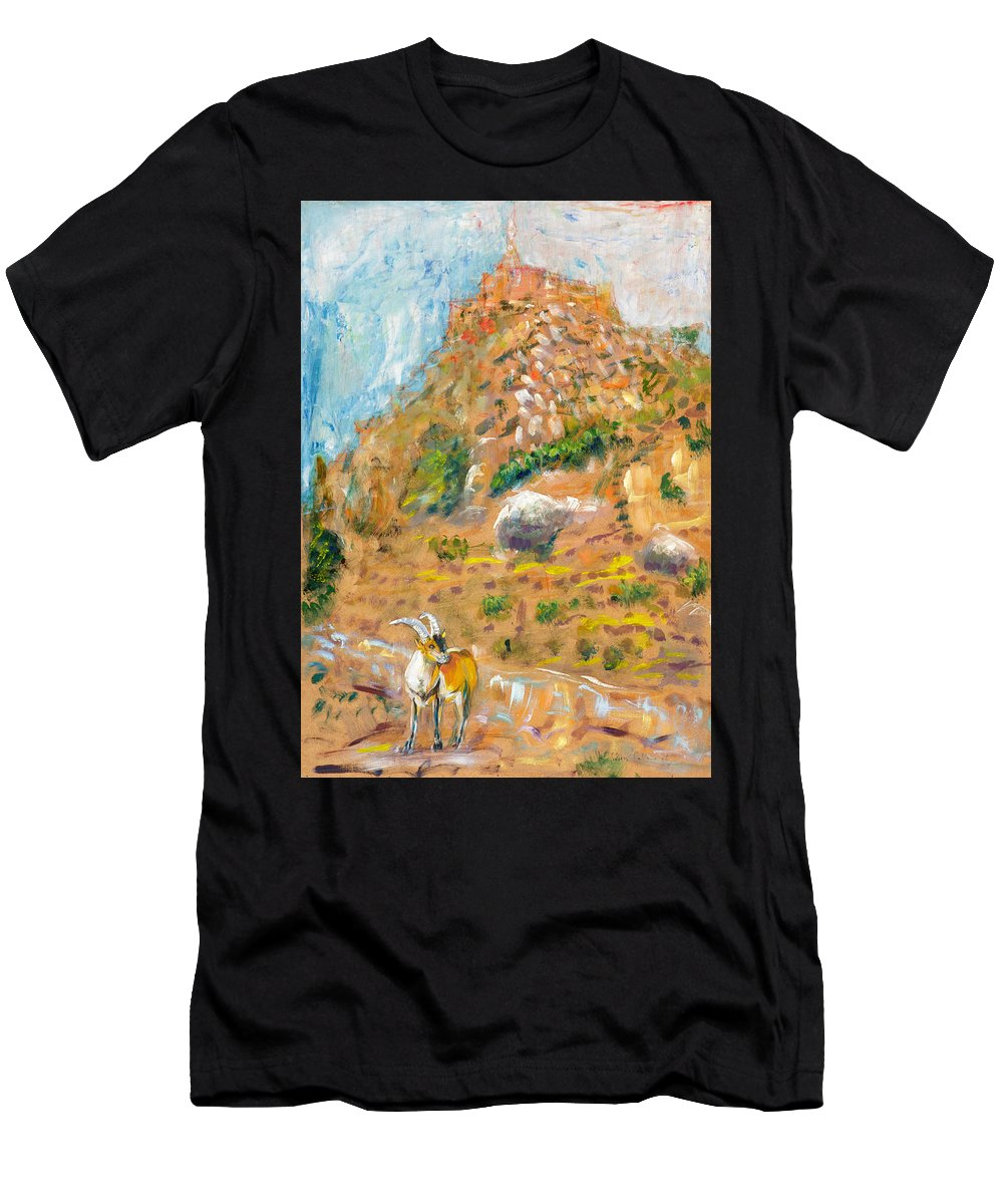 Men's T-Shirt (Athletic Fit) featuring the painting Cabra by Fernando Bolivar