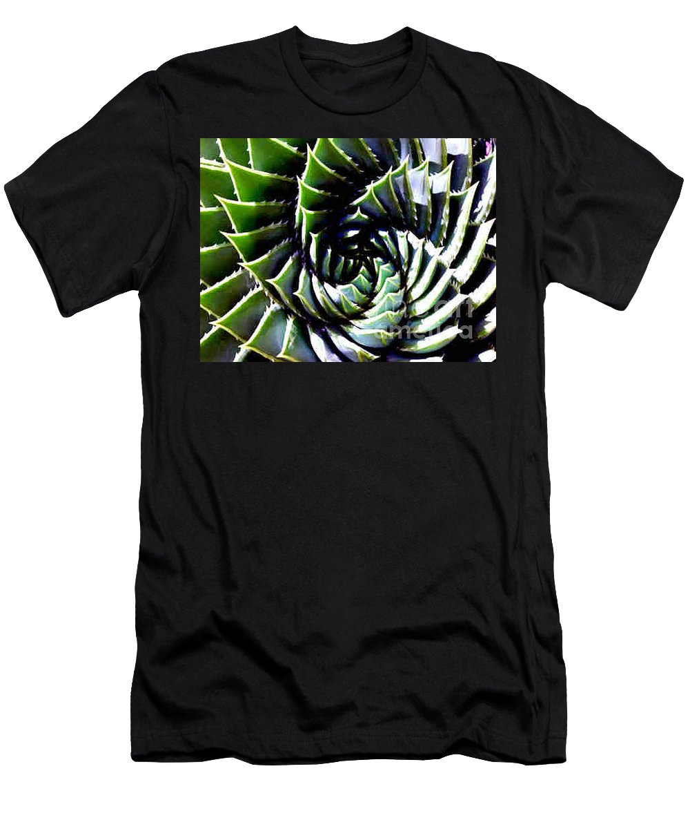 Cactus Men's T-Shirt (Athletic Fit) featuring the photograph Cactus by Dragica Micki Fortuna