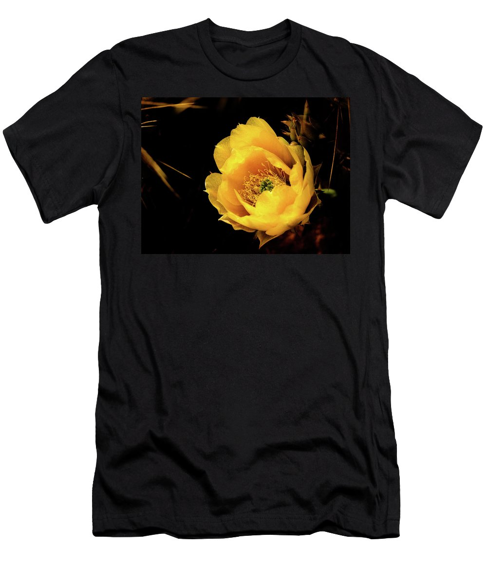 Cactus Flower Men's T-Shirt (Athletic Fit) featuring the photograph Cactus Flower by Jessica Giannone