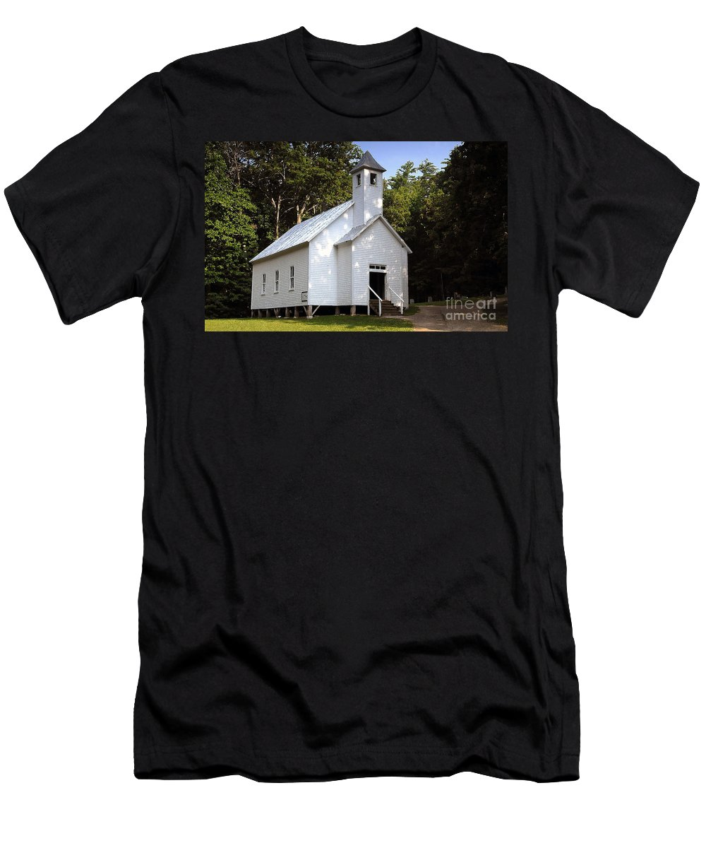 Baptist Men's T-Shirt (Athletic Fit) featuring the photograph Cades Cove Baptist Church by David Lee Thompson