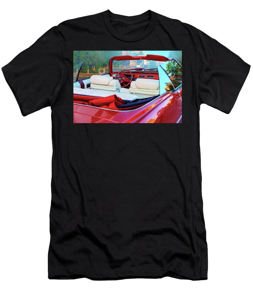 George Westermak Men's T-Shirt (Athletic Fit) featuring the photograph Cadillac Convertible - A Car Class by George Westermak