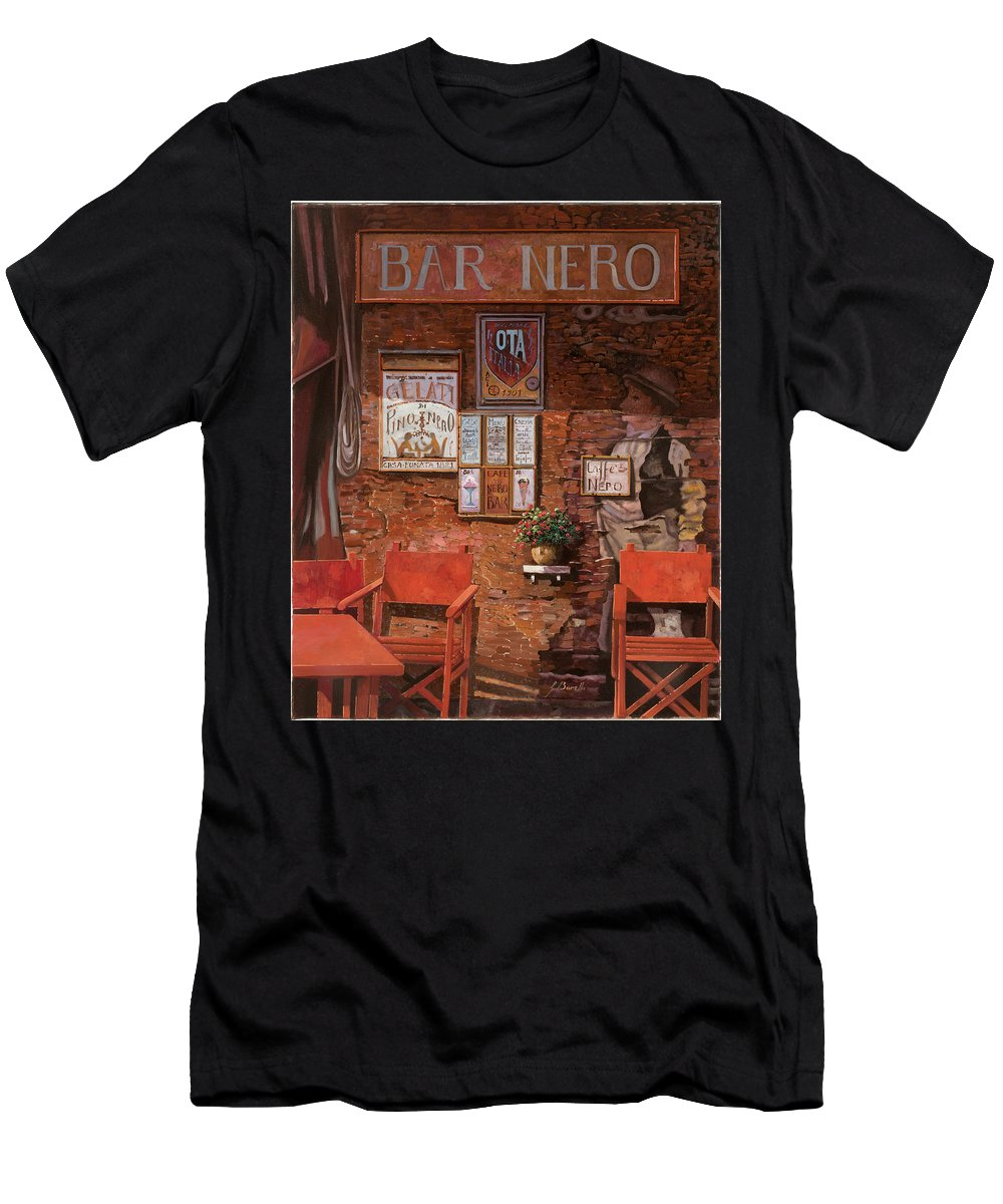 Caffe' Men's T-Shirt (Athletic Fit) featuring the painting caffe Nero by Guido Borelli