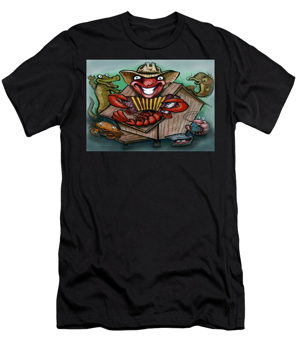 Cajun Men's T-Shirt (Athletic Fit) featuring the greeting card Cajun Critters by Kevin Middleton