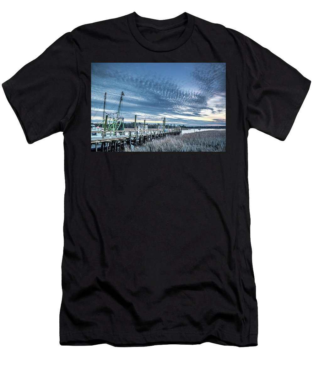 Calabash Men's T-Shirt (Athletic Fit) featuring the photograph Calabash Sunset by Gerald Monaco