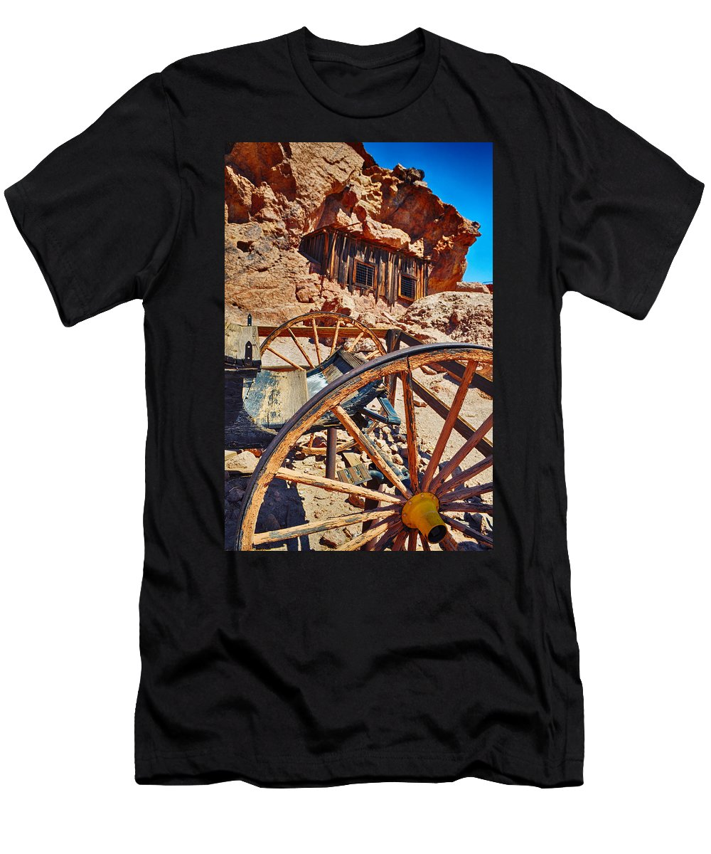 Calico Men's T-Shirt (Athletic Fit) featuring the photograph Calico Ghost Town Mine by Kyle Hanson