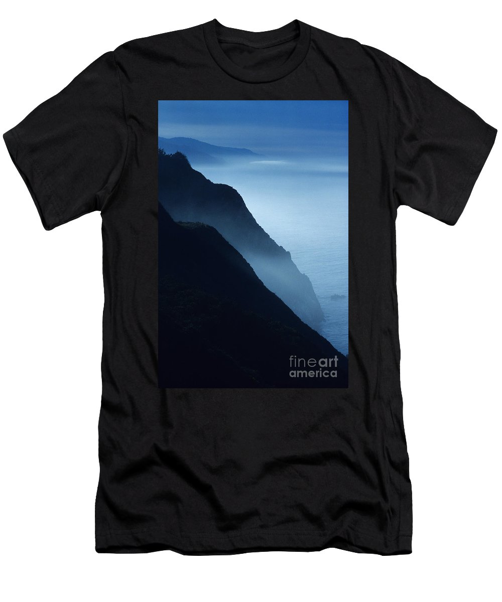 Beach Men's T-Shirt (Athletic Fit) featuring the photograph California Big Sur Coast by Larry Dale Gordon - Printscapes