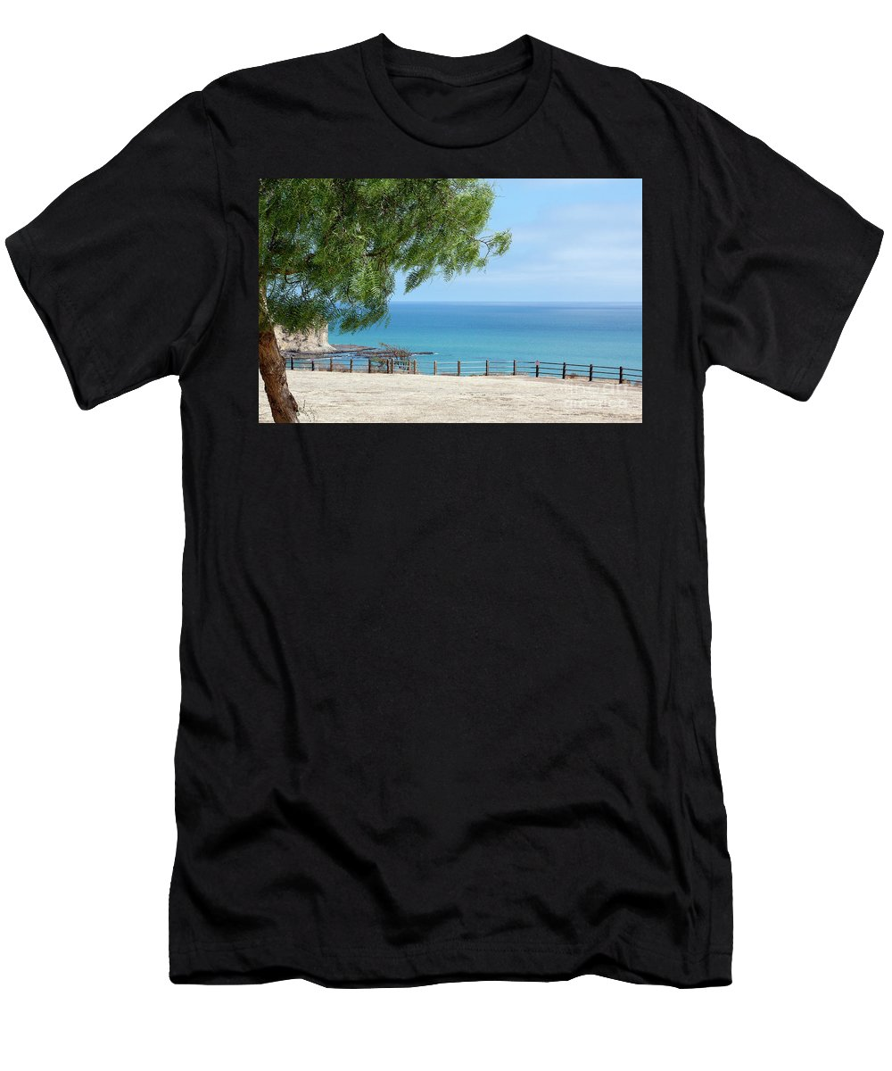 Landscapes Men's T-Shirt (Athletic Fit) featuring the photograph California Coastline by Wallybird Photography